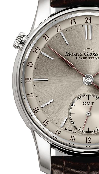 Erste Zwei-Zeitzonen Uhr<br /> von Moritz Grossmann